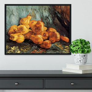 Still Life with Pears by Van Gogh Framed Print - Canvas Art Rocks - 2
