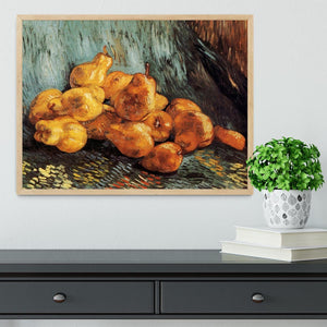 Still Life with Pears by Van Gogh Framed Print - Canvas Art Rocks - 4