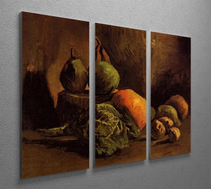 Still Life with Vegetables and Fruit by Van Gogh 3 Split Panel Canvas Print - Canvas Art Rocks - 4