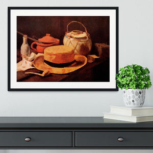 Still Life with Yellow Straw Hat by Van Gogh Framed Print - Canvas Art Rocks - 1