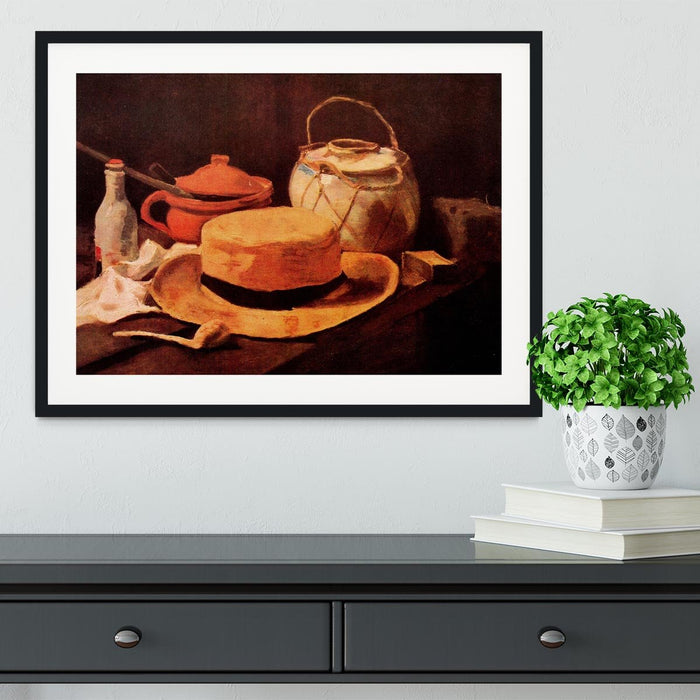 Still Life with Yellow Straw Hat by Van Gogh Framed Print