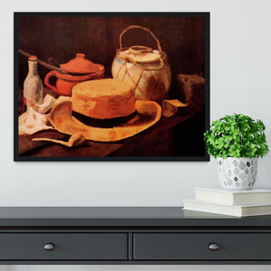 Still Life with Yellow Straw Hat by Van Gogh Framed Print - Canvas Art Rocks - 2