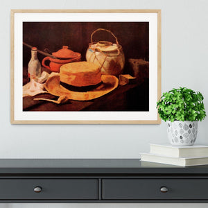 Still Life with Yellow Straw Hat by Van Gogh Framed Print - Canvas Art Rocks - 3