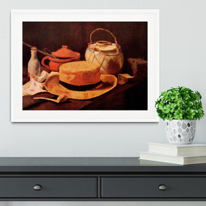 Still Life with Yellow Straw Hat by Van Gogh Framed Print - Canvas Art Rocks - 5