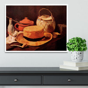 Still Life with Yellow Straw Hat by Van Gogh Framed Print - Canvas Art Rocks -6