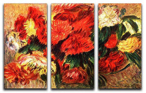 Still life with Chrysanthemums by Renoir 3 Split Panel Canvas Print - Canvas Art Rocks - 1