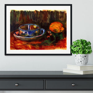 Still life with cup by Renoir Framed Print - Canvas Art Rocks - 1