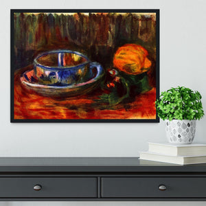 Still life with cup by Renoir Framed Print - Canvas Art Rocks - 2