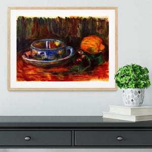 Still life with cup by Renoir Framed Print - Canvas Art Rocks - 3