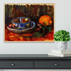 Still life with cup by Renoir Framed Print - Canvas Art Rocks - 4