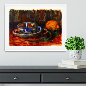 Still life with cup by Renoir Framed Print - Canvas Art Rocks - 5