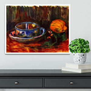 Still life with cup by Renoir Framed Print - Canvas Art Rocks -6
