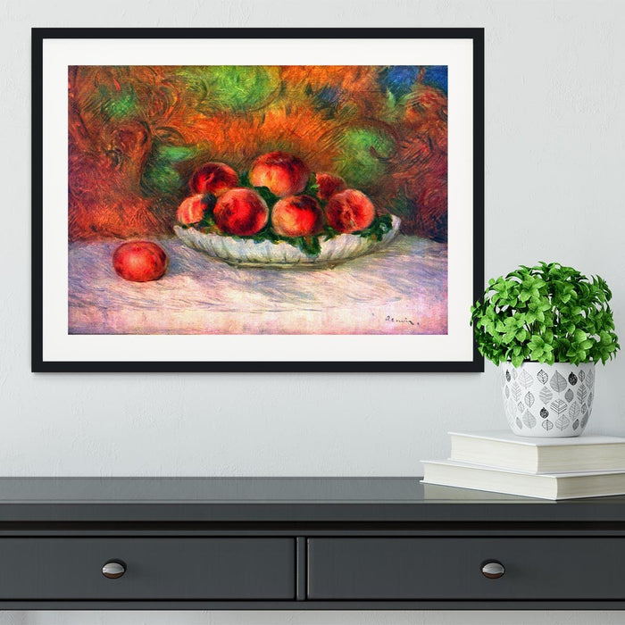 Still life with fruits by Renoir Framed Print