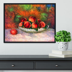 Still life with fruits by Renoir Framed Print - Canvas Art Rocks - 2