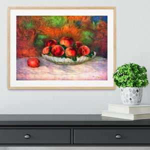 Still life with fruits by Renoir Framed Print - Canvas Art Rocks - 3