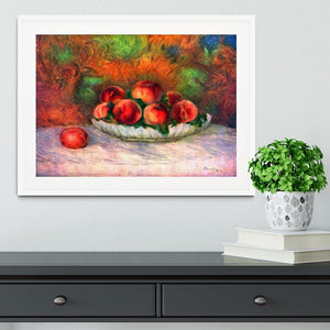 Still life with fruits by Renoir Framed Print - Canvas Art Rocks - 5