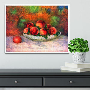 Still life with fruits by Renoir Framed Print - Canvas Art Rocks -6