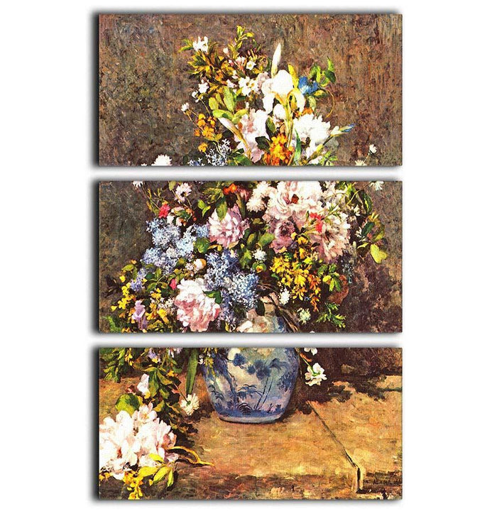 Still life with large vase by Renoir 3 Split Panel Canvas Print