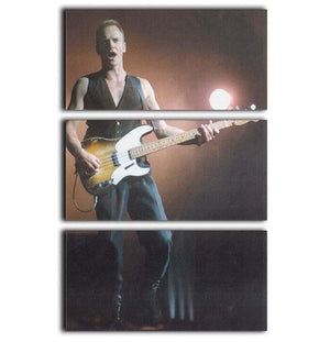 Sting in concert 3 Split Panel Canvas Print - Canvas Art Rocks - 1