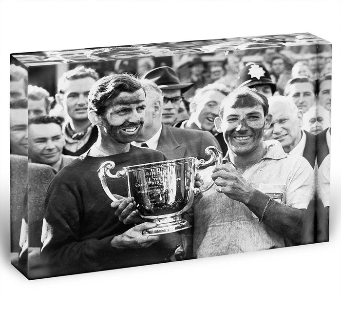 Stirling Moss and his Vanwall team mate Tony Brooks Acrylic Block