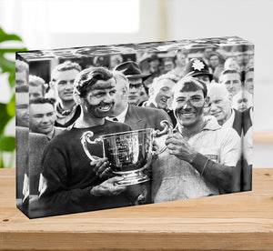Stirling Moss and his Vanwall team mate Tony Brooks Acrylic Block - Canvas Art Rocks - 2