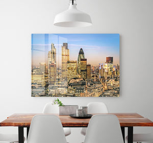 Stock Exchange Tower and Lloyds of London HD Metal Print