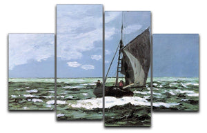 Storm by Monet 4 Split Panel Canvas  - Canvas Art Rocks - 1