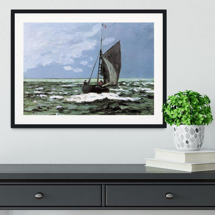 Storm by Monet Framed Print