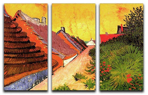 Street in Saintes-Maries by Van Gogh 3 Split Panel Canvas Print - Canvas Art Rocks - 4