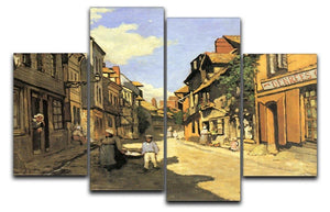 Street of Bavolle 2 by Monet 4 Split Panel Canvas  - Canvas Art Rocks - 1