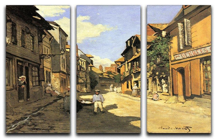 Street of Bavolle 2 by Monet Split Panel Canvas Print
