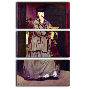 Street singer by Manet 3 Split Panel Canvas Print - Canvas Art Rocks - 1