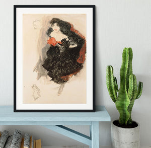 Study for Judith II by Klimt Framed Print - Canvas Art Rocks - 1