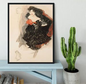 Study for Judith II by Klimt Framed Print - Canvas Art Rocks - 2