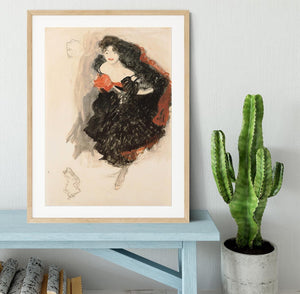 Study for Judith II by Klimt Framed Print - Canvas Art Rocks - 3