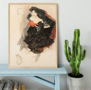 Study for Judith II by Klimt Framed Print - Canvas Art Rocks - 4