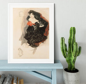 Study for Judith II by Klimt Framed Print - Canvas Art Rocks - 5