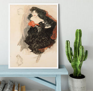 Study for Judith II by Klimt Framed Print - Canvas Art Rocks -6