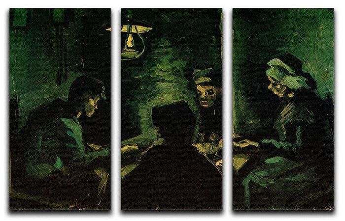 Study for The Potato Eaters by Van Gogh 3 Split Panel Canvas Print