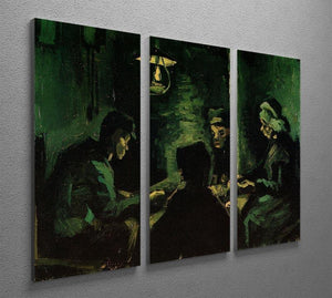 Study for The Potato Eaters by Van Gogh 3 Split Panel Canvas Print - Canvas Art Rocks - 4