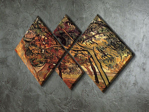 Study of Pine Trees by Van Gogh 4 Square Multi Panel Canvas - Canvas Art Rocks - 2