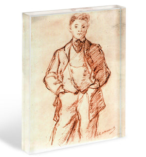Study of a boy by Manet Acrylic Block - Canvas Art Rocks - 1