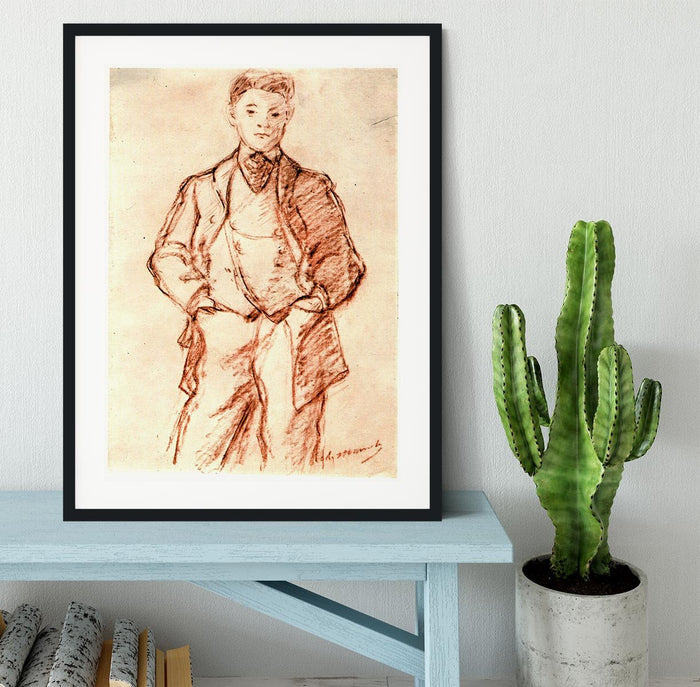 Study of a boy by Manet Framed Print