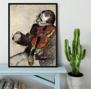 Study of violinist by Degas Framed Print - Canvas Art Rocks - 2