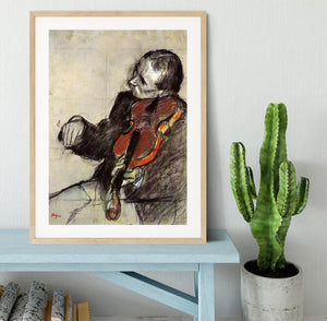 Study of violinist by Degas Framed Print - Canvas Art Rocks - 3