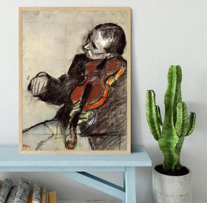 Study of violinist by Degas Framed Print - Canvas Art Rocks - 4