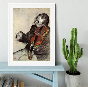 Study of violinist by Degas Framed Print - Canvas Art Rocks - 5