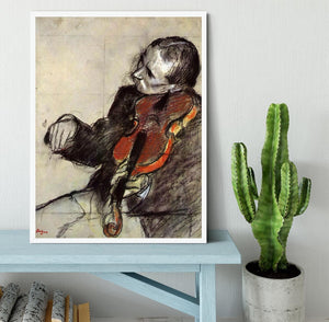 Study of violinist by Degas Framed Print - Canvas Art Rocks -6