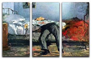 Suicide by Manet 3 Split Panel Canvas Print - Canvas Art Rocks - 1
