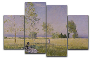 Summer by Monet 4 Split Panel Canvas  - Canvas Art Rocks - 1